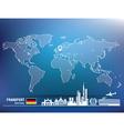 Map pin with Frankfurt skyline vector image vector image