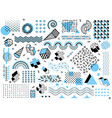 memphis minimal geometric shapes halftone grid vector image vector image