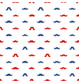 mustaches seamless pattern november vector image vector image