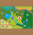 offroad event and camping map icons set vector image