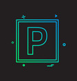 parking icon design vector image