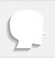 people head sign white icon with soft vector image