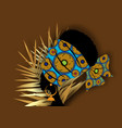 portrait beauty african woman traditional turban vector image vector image