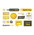 quick tips shapes helpful tricks logos vector image