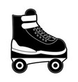 roller skate isolated vector image vector image
