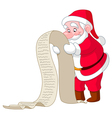 santa with list vector image
