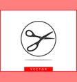 scissor icon scissors design element or logo vector image vector image