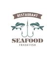 seafood emblem vector image