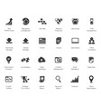 seo internet marketing icons set vector image vector image