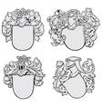 set aristocratic emblems no2 vector image vector image