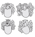 set of aristocratic emblems No2 vector image vector image