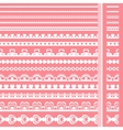 Set of hand drawn lace paper punch borders vector | Price: 1 Credit (USD $1)