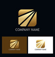 square arrow gold business logo vector image vector image