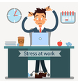 Stressed Man at Work Pulls His Hair with a Laptop vector image vector image