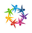 teamwork fun people symbol vector image vector image