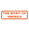 The Spirit Of America Rubber Stamp vector image vector image