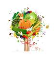 vegetable tree vector image vector image
