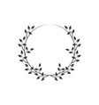 Vintage floral round frames black decorative ivy