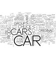 what kind of car lover are you text word cloud vector image vector image