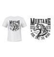 wild mustang stallion t-shirt print mockup vector image vector image