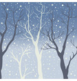 winter trees background winter landscape with vector image vector image