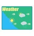 Weather forecast icon cartoon style vector image