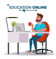 education online home online education vector image