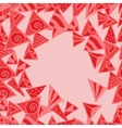 Abstract pattern background memphis style vector image