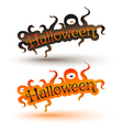 halloween bunner vector image