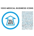 2016 Ahead Arrow Icon with 1000 Medical Business vector image