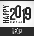 2019 happy new year design for printing products vector image