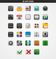 28 APP ICONS vector image vector image