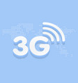 3g fast internet 3d sign in blue background and vector image vector image