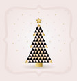 abstract black and golden triangle christmas tree vector image vector image