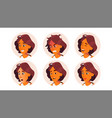 avatar woman facial emotions icon vector image vector image