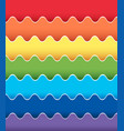 background design with rainbow wavy lines vector image vector image