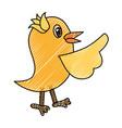 bird cute cartoon vector image vector image