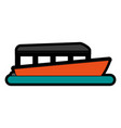 boat tourist vector image