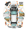 body parts car vector image