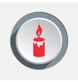Candle with fire icon Christmas symbol Red sign vector image vector image