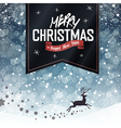christmas card with black label vector image vector image