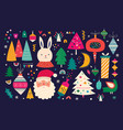 christmas holiday collection vector image vector image