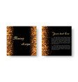 christmas leaflet with golden light vector image vector image