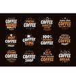 Coffee logo labels and icons Collection vector image vector image