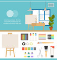 creative set for artist ideas creativity design vector image