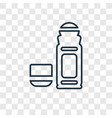 deodorant concept linear icon isolated on vector image