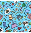 Doodle pattern of diet vector image vector image