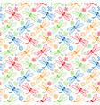 dragonfly colorful pattern background vector image