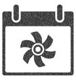 Fan Calendar Day Grainy Texture Icon vector image vector image
