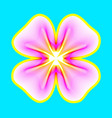 fantastic neon flower abstract shape with lots vector image